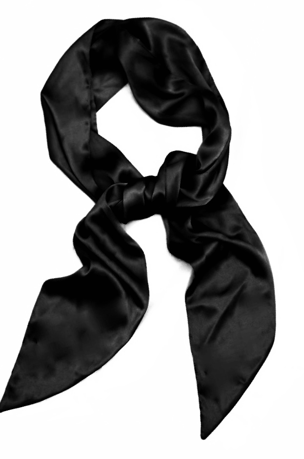 Silk Crescent Scarf