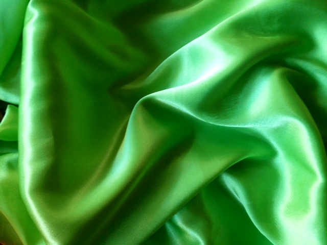 The Crescent Silky Scarf (Lime Green)